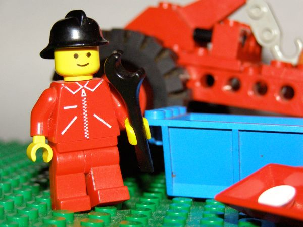 Lego Construction Worker for Site UnderConstruction